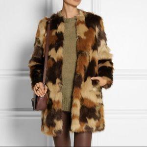 Michael Kors faux fur camo coat